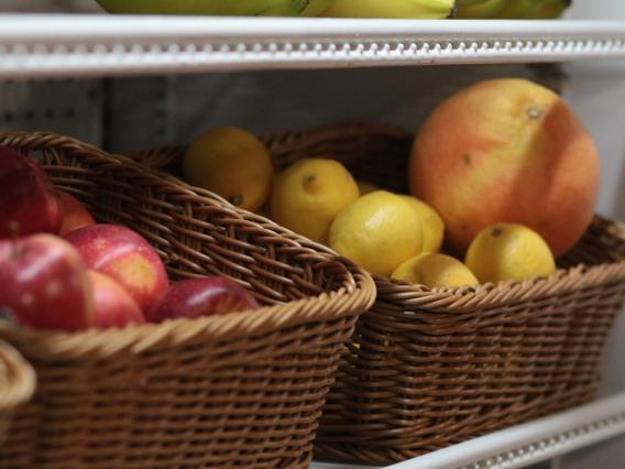 fruit in baskets
