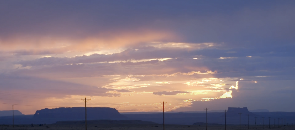 sunset in American Southwest